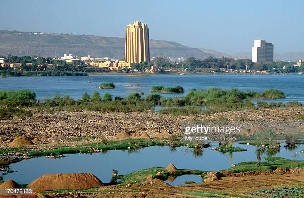 The Central Bank of West Africa on the banks of the River Niger in Bamako the capital of Mali West Africa