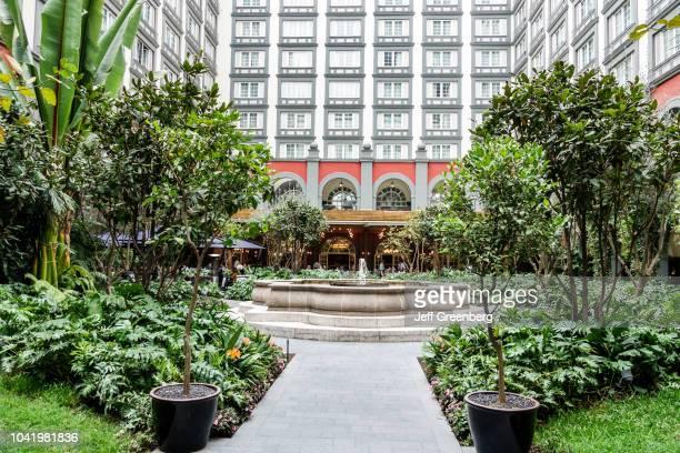 The central courtyard garden fountain at the Four Seasons hotel
