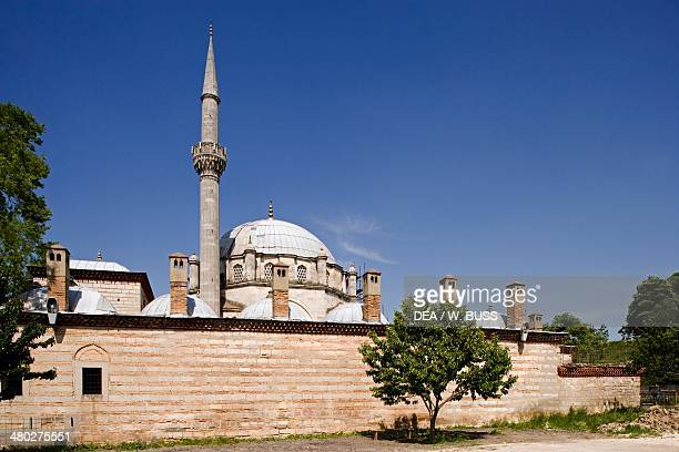 The central dome and minaret of the 40 metre high Tombul Mosque the largest mosque in Bulgaria Shumen Bulgaria