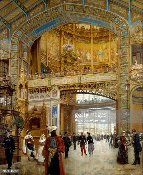 The central Dome of the World Fair in Paris 1889 Painting by Louis Beroud 1890198 x 164 m Carnavalet Museum Paris