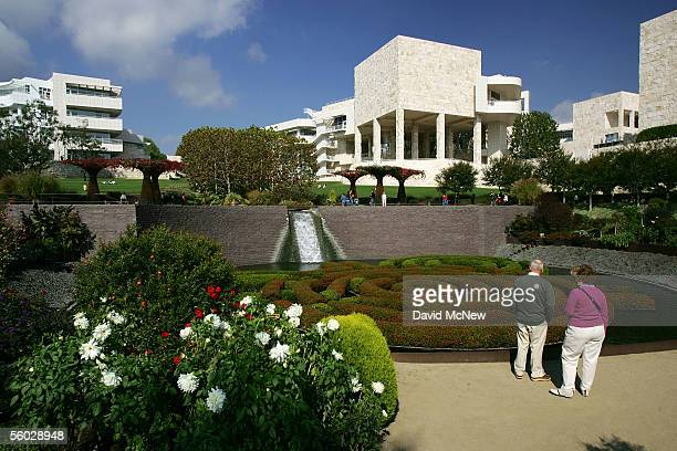 The Central Garden at the Getty Center is seen October 28 2005 in Los Angeles California The J Paul Getty Museum's recently departed antiquities...