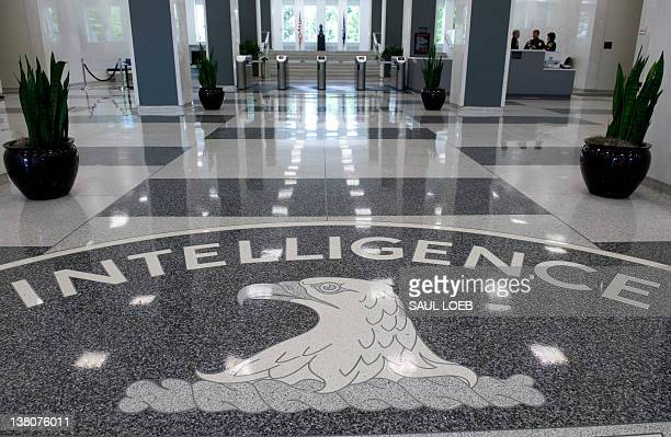 The Central Intelligence Agency logo is displayed in the lobby of CIA Headquarters in Langley Virginia on August 14 2008 AFP PHOTO/SAUL LOEB
