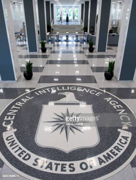The Central Intelligence Agency seal is displayed in the lobby of CIA Headquarters in Langley Virginia on August 14 2008 AFP PHOTO/SAUL LOEB / AFP...
