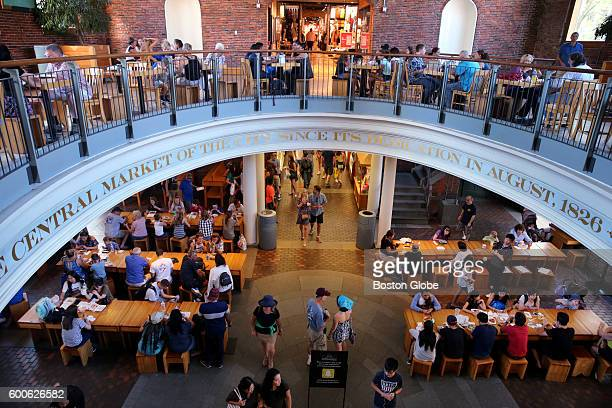 The Central Market at Quincy Market near Faneuil Hall in Boston Mass on Aug 23 2016