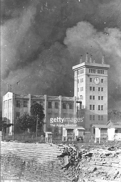 The Central Meteorological Observatory is surrounded by black smoke of the massive fire occured after the Great Kanto Earthquake in September 1923 in...