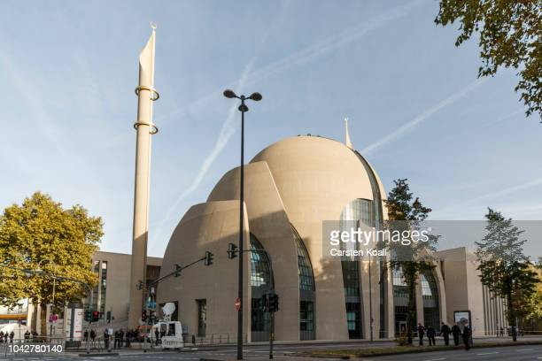 The central mosque of DITIB the Turkish Islamic union that runs Turkish mosques prior the visit of Turkish President Recep Tayyip Erdogan on...