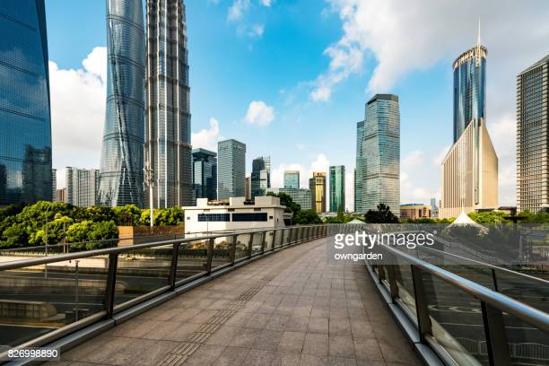 The central park in the Lujiazui CBD