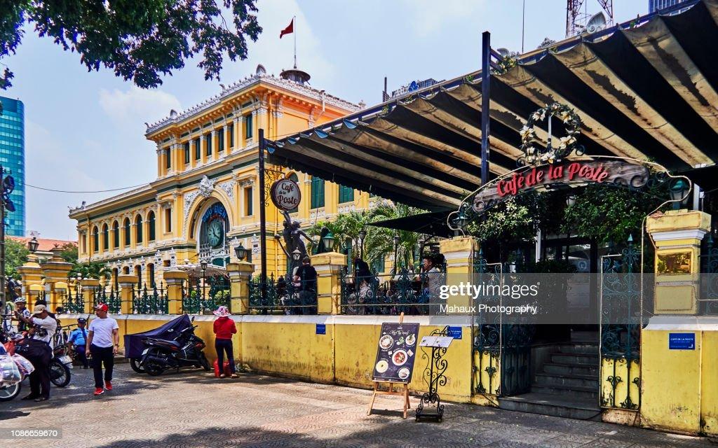 The central post office and the café de la poste in ho chi minh