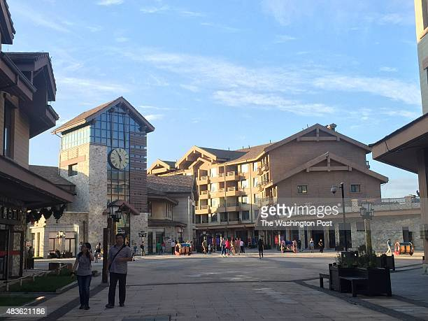 The central square at Changbaishan resort a Europeanstyle resort for Chinas exploding middle class in northeastern China at the base of a mountain...