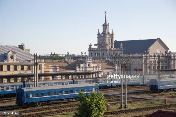 The central station in seen early in the morning of 1 June 2017 As the city is situated next to the Polish border it has become a hub for persons...