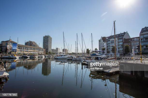 The central yacht marina on July 23 2018 in Ostend Belgium