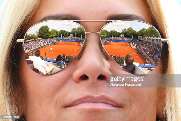 The Centre Court is reflected during day 4 of the BMW Open by FWU at MTTC IPHITOS on May 1 2018 in Munich Germany