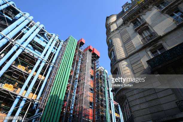 The Centre Georges Pompidou The museum building designed by Richard Rogers and Renzo Piano was inaugurated in 1977 on July 5 2019 in Paris France