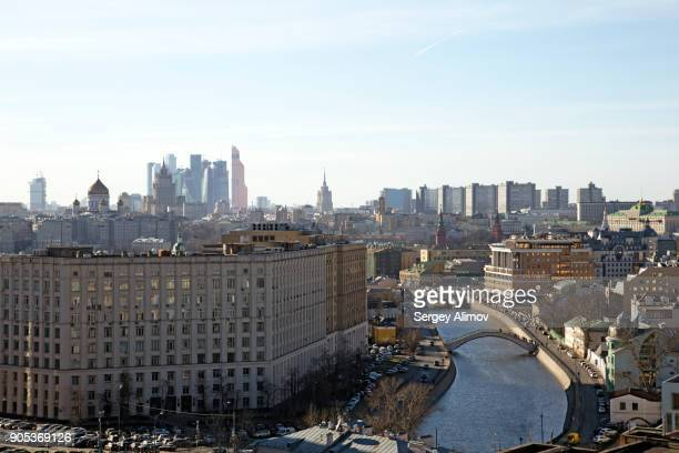 The centre of Moscow from the roof