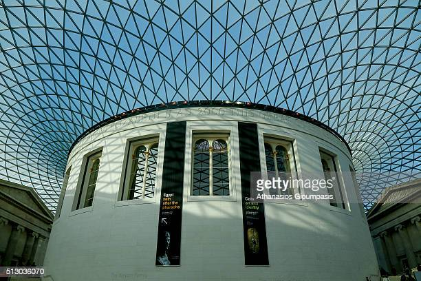 The centre of the British museum on December 31 2015 in London EnglandThe British Museum is a museum dedicated to human history art and culture...