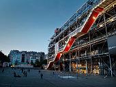 The Centre Pompidou in Paris at twilight
