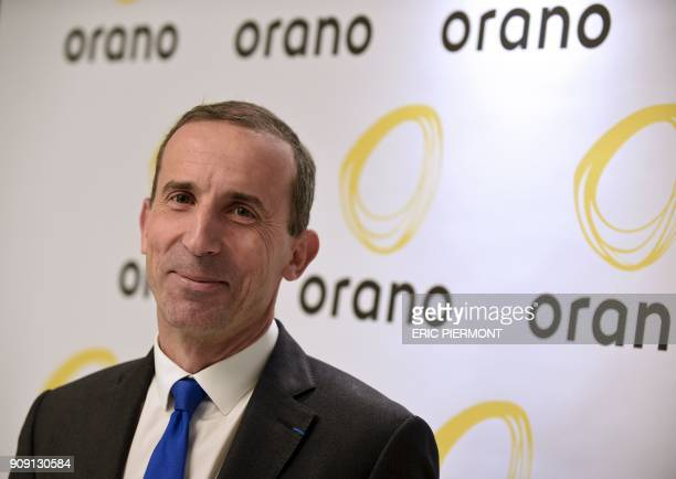 The CEO of French nuclear group Areva Philippe Knoche poses as he presents the new group's brand name Orano at Orano headquarters in La Defense...