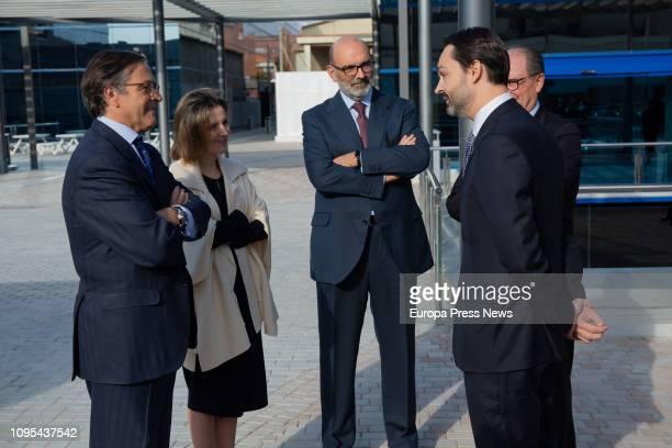 The CEO of Indra TD Ignacio Mataix the CEO of TI Cristina Ruiz the president of Indra Fernando Abril Martorell the director of Indra in Catalonia...
