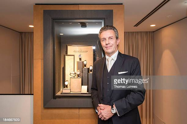 The CEO of JaegerLeCoultre Daniel Riedo attends the JaegerLeCoultre Boutique Opening on October 14 2013 in Frankfurt am Main Germany