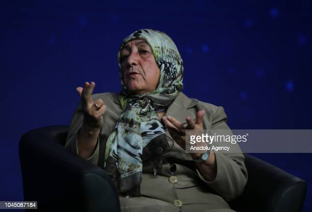 The CEO of the Afghan Institute of Learning Sakena Yacoobi attends a panel discussion titled 'The Leadership of Women in a World of Conflict'...