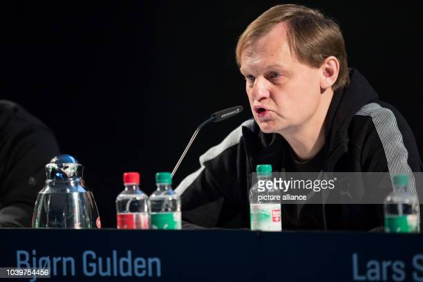 The CEO of the German sports company Puma Björn Gulden in Herzogenaurach Germany 09 February 2017 The company presented its annual figures for 2016...