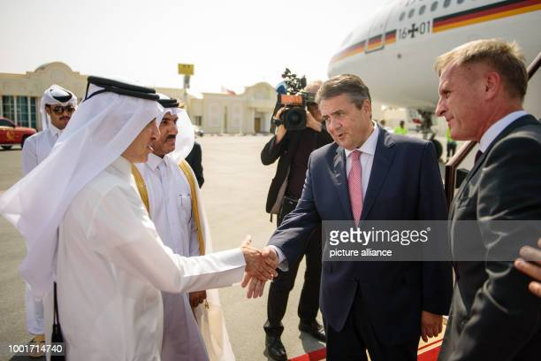 The CEO of Qatar Airways Akbar Al Baker the Secretary General of the Foreign Ministry Ahmad Hassan AlHamadi and the German ambassador in Qatar...