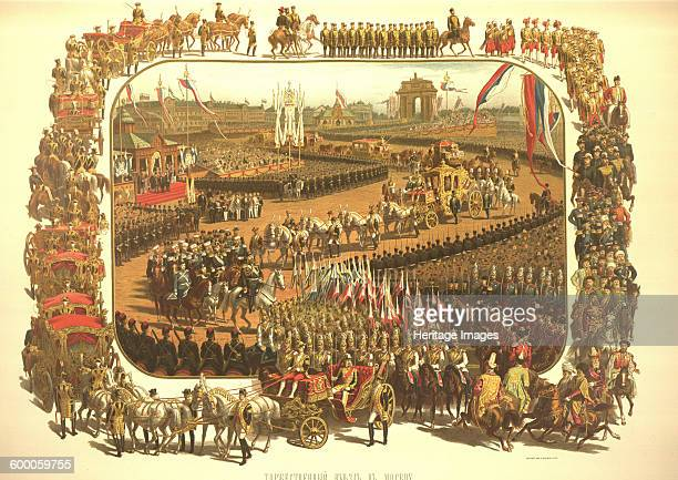 The Ceremonial Entry of Alexander III in Moscow , 1883. Found in the collection of State History Museum, Moscow. Artist : Savitsky, Konstantin...