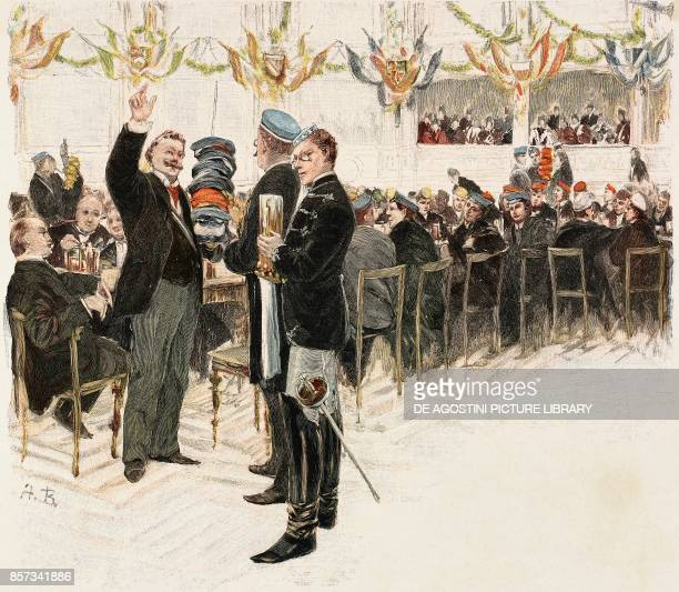 The ceremonial Landesvater illustration by August Blunck woodcut from Moderne Kunst illustrated magazine published by Richard Bong 18921893 Year VII...