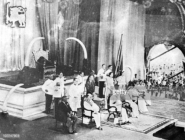 The ceremonial opening 10 February 1948 of Sri Lanka's first parliament six days after independence from Britain Sri Lanka's first prime minister of...