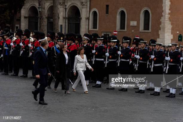 The ceremony at the Altar of the fatherland by the President of the Italian Senate Maria Elisabetta Alberti Casellati and the Minister of Defence...