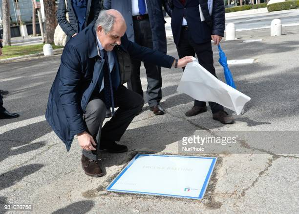 The ceremony Walk of Fame in Rome Italy on 12 March 2018 The Walk of Fame is enriched with 5 more samples Along the Via Olimpiadi which leads...