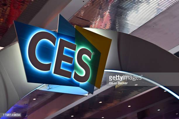 The CES logo is displayed during CES 2020 at the Las Vegas Convention Center on January 7 2020 in Las Vegas Nevada CES the world's largest annual...