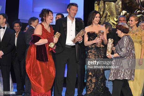 The Cesar Film Awards held at the Chatelet Theater part II in Paris France on February 27 2009 Yolande Moreau Vincent Cassel Elsa Zylberstein Agnes...