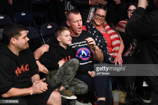 The Cesternino family is seen in attendance during the UFC Fight Night event at Bridgestone Arena on March 23 2019 in Nashville Tennessee