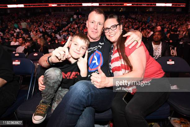 The Cesternino family poses for a photo during the UFC Fight Night event at Bridgestone Arena on March 23 2019 in Nashville Tennessee