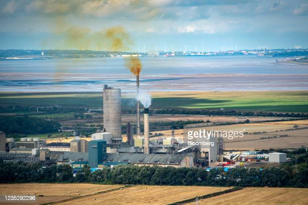 The CF Industries Holdings Inc. Fertilizer manufacturing complex, which is being forced to be shut down due to high natural gas prices, in Ince,...