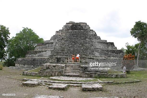 The Chaccoben Mayan Ruins near Costa Maya Mexico Chacchoben is one of the lesser known Mayan ruins More well known are Tulum and Chichen Itza Costa...