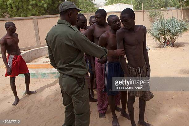 The Chadian and Nigerien army against the islamists of Boko Haram in Nigeria in Diffa at the border between Nigeria and Niger a Nigerian soldier with...