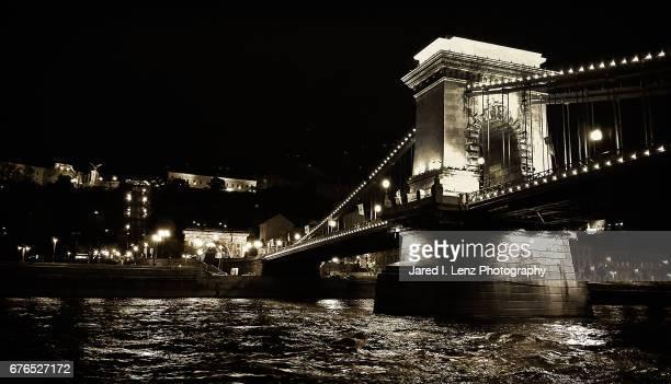 The Chain Bridge at Night (Black & White)