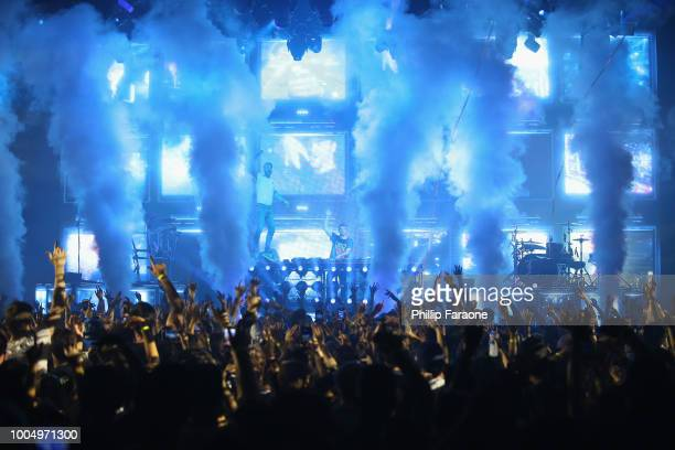 The Chainsmokers perform at the Pepsi Generation Summer Concert at the Hollywood Palladium on July 24 2018 in Los Angeles California