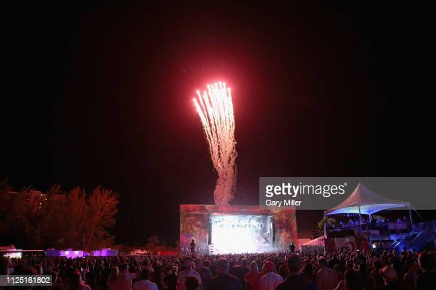 The Chainsmokers perform in concert during the sold out inaugural KAABOO Cayman Festival at Seven Mile Beach on February 15 2019 in Grand Cayman...