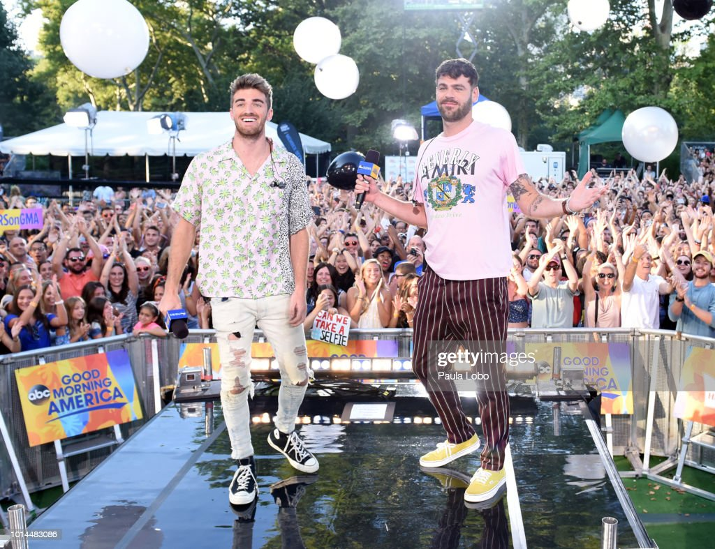 AMERICA - The Chainsmokers perform live from Central Park on 'Good Morning America,' as part of the GMA Summer Concert series on Friday, August 10, 2018 airing on the ABC Television Network. GMA18 THE