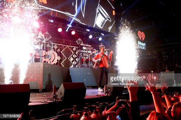 The Chainsmokers perform onstage during Hot 995's Jingle Ball 2018 on at Capital One Arena on December 10 2018 in Washington DC