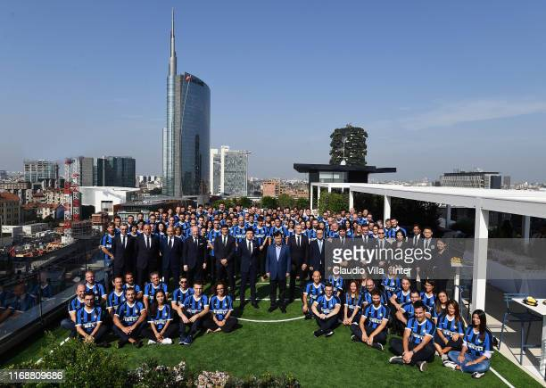 The Chairman of Suning Holdings Group Jindong Zhang visits the FC Internazionale HQ on September 17, 2019 in Milan, Italy.