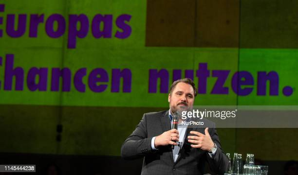 The chairman of the Bavarian FDP Daniel Foest speaking The chairman of the FDP and head of its faction in the Bundestag Christian Lindner and the...