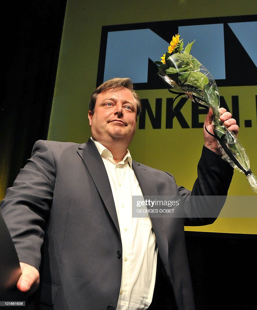 The chairman of the Flemish nationalist party N-VA, Bart De Wever, poses on June 6, 2010 after speaking at an election meeting in Gent. Belgium's parliament dissolved itself on June 3, paving the way for general elections made inevitable by the collapse of the ruling coalition last month. The elections are set for June 13.