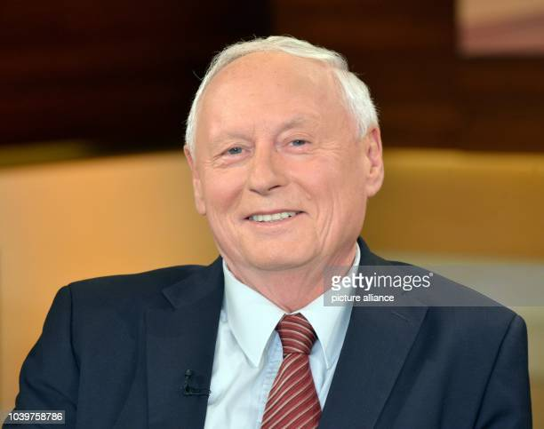 The chairman of the 'Linke' state parliamentary group in the state of Saarland, Oskar Lafontaine, speaks during the televised talk show 'Anne Will'...
