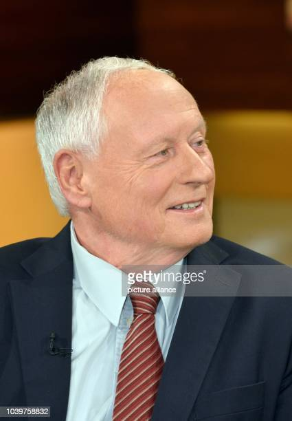 The chairman of the 'Linke' state parliamentary group in the state of Saarland Oskar Lafontaine speaks during the televised talk show 'Anne Will'...