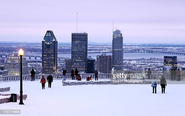 The chalet lookout in Winter - Mont-Royal