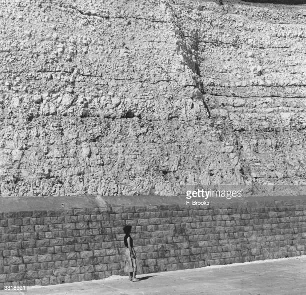 The chalk cliffs at Saltdean, Sussex.